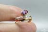 Žiedas su ametistu - ZDM1415