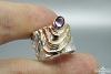 Žiedas su ametistu - ZDM1509