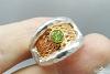 Žiedas su peridotu - ZDM860