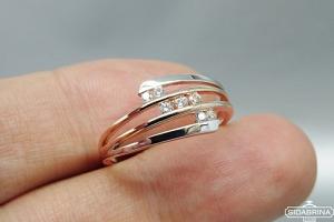 Auksinis žiedas - ZDA012