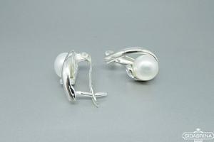 Auskarai su perlais - AUM1652