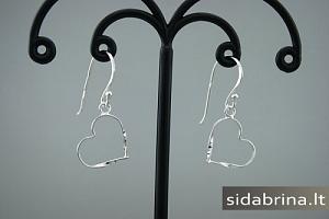 Kabantys sidabriniai auskarai - AUM568