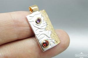 Pakabukas su natūraliais akmenimis - PAM512