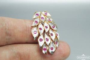 Pakabukas su rožiniais safyrais - PAM728