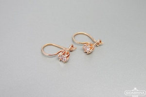 Smulkūs auksiniai auskarai - AUA109