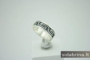 Tamsinto sidabro žiedas - ZDM195