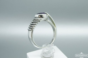 Žiedas su ametistu - ZDM1140