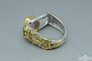 Žiedas su ametistu - ZDM525