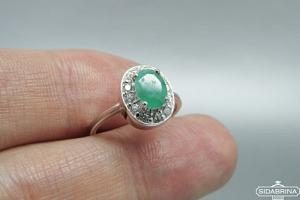 Žiedas su berilu - ZDM1460