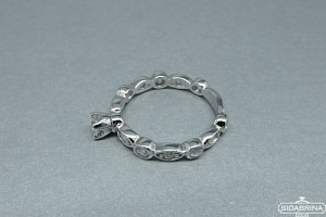 Žiedas su cirkoniais - ZDM485