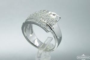 Žiedas su cirkoniais - ZDM784