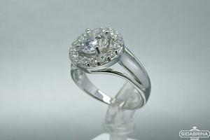 Žiedas su cirkoniais - ZDM787