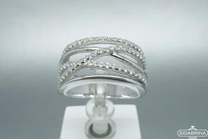 Žiedas su cirkoniais - ZDM798