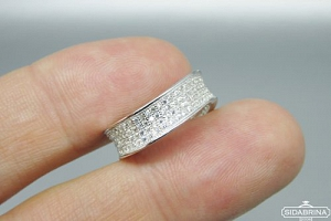Žiedas su cirkoniais - ZDM1032