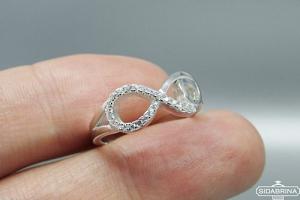 Žiedas su cirkoniais - ZDM1235