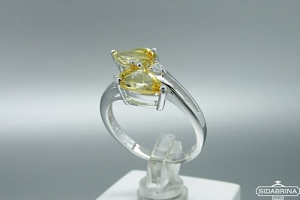 Žiedas su citrinu - ZDM1059