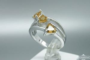 Žiedas su citrinu - ZDM1077