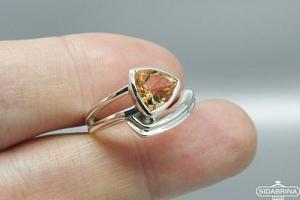Žiedas su citrinu - ZDM1120