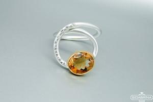 Žiedas su citrinu - ZDM1309