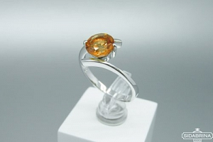 Žiedas su citrinu - ZDM1340