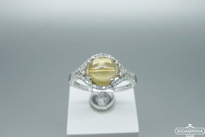 Žiedas su citrinu - ZDM1358