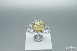 Žiedas su citrinu - ZDM1359