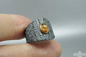 Žiedas su citrinu - ZDM1507