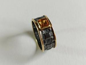 Žiedas su citrinu - ZDM1590