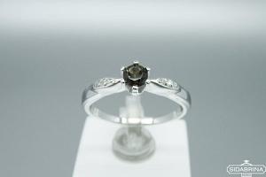 Žiedas su dūminiu kvarcu - ZDM1054