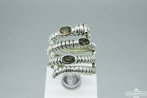 Žiedas su dūminiu kvarcu - ZDM1395