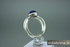 Žiedas su lazuritu - ZDM311