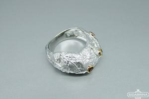 Žiedas su natūraliais akmenimis - ZDM1293
