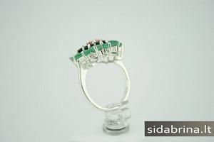 Žiedas su natūraliais akmenimis - ZDM199