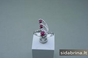Žiedas su natūraliais akmenimis - ZDM350