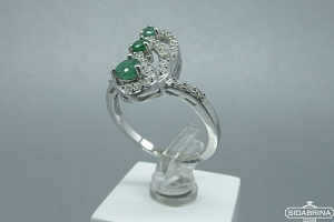 Žiedas su natūraliais akmenimis - ZDM531