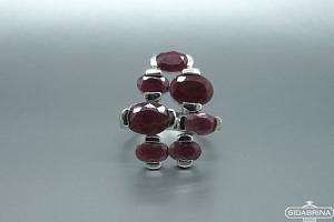 Žiedas su natūraliais akmenimis - ZDM548