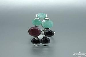 Žiedas su natūraliais akmenimis - ZDM551