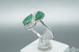 Žiedas su natūraliais akmenimis - ZDM737
