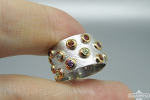 Žiedas su natūraliais akmenimis - ZDM1518