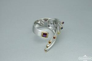 Žiedas su natūraliais akmenimis - ZDM1519