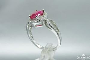 Žiedas su natūraliu akmenimi - ZDM1038