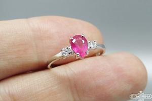 Žiedas su natūraliu akmenimi - ZDM1065