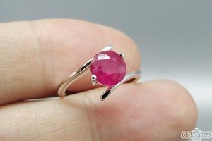 Žiedas su natūraliu akmenimi - ZDM1085