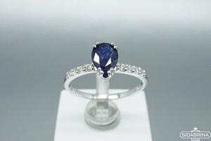 Žiedas su natūraliu akmenimi - ZDM702