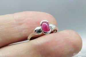 Žiedas su natūraliu akmenimi - ZDM950