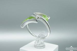 Žiedas su peridotu - ZDM1147