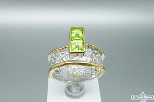Žiedas su peridotu - ZDM1181