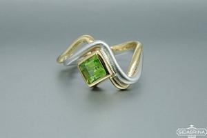 Žiedas su peridotu - ZDM725