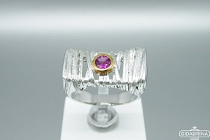 Žiedas su rodolitu - ZDM1302