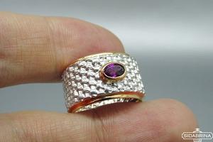 Žiedas su rodolitu - ZDM1504